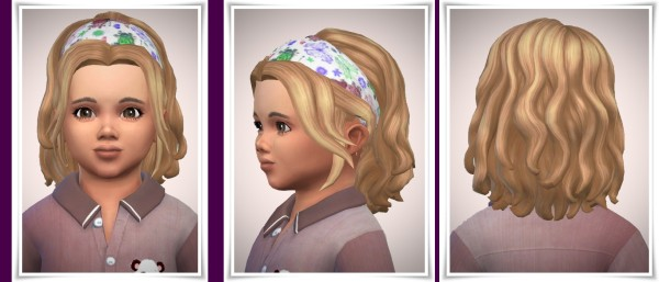 Birksches sims blog: Butterfly Bandana Hair for Toddler for Sims 4
