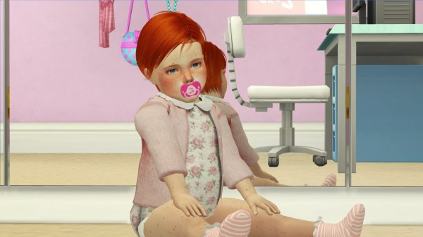 Coupure Electrique: Ulker hair retextured   kids and toddlers version for Sims 4
