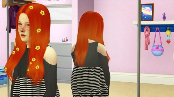 Coupure Electrique: LeahLillith`s Saci hair retetured   kids version for Sims 4