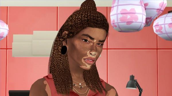 Coupure Electrique: Adedarma`s Durham hair retextured curly for Sims 4