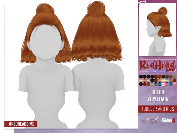 Coupure Electrique: S Club`s Yoyo hair retextured kids and toddlers versions for Sims 4