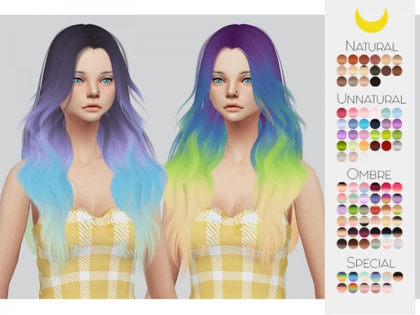 The Sims Resource: LeahLillith`s Laurie hair retextured by Kalewa a for Sims 4