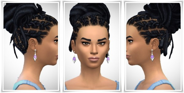 Birksches sims blog: Cool Dread Knot hair for Sims 4