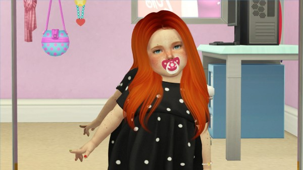 Coupure Electrique: Nightcrawler`s Breeze Hair Retextured   kids and toddlers version for Sims 4