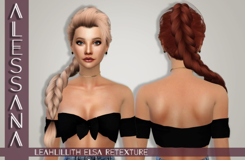 Alessana Sims: LeahLillith`s Elsa hair retextured for Sims 4