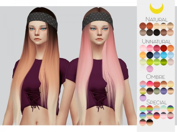 The Sims Resource: LeahLillith`s Karin hair retextured by Kalewa a for Sims 4