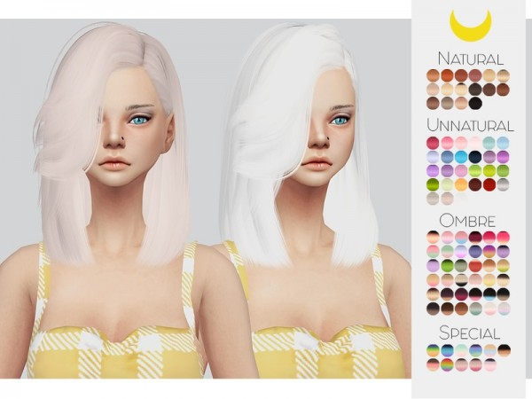 The Sims Resource: LeahLillith`s Lush Life hair retextured by Kalewa a for Sims 4