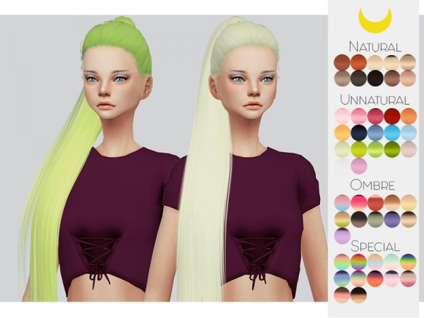 The Sims Resource: LeahLillith`s Royalty hair retextured by Kalewa a for Sims 4