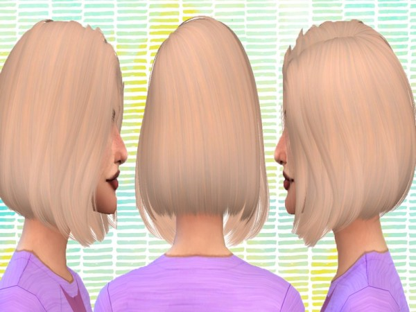 The Sims Resource: Anto`s Tempus hair recolored by crazydirpgirl for Sims 4
