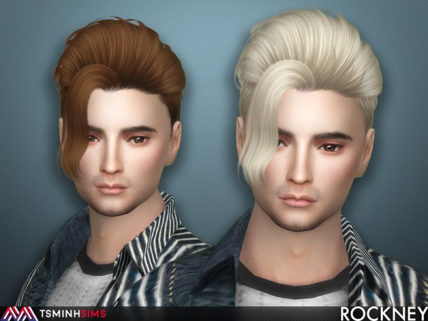 The Sims Resource: Rockney Hair 59 by Tsminh Sims for Sims 4