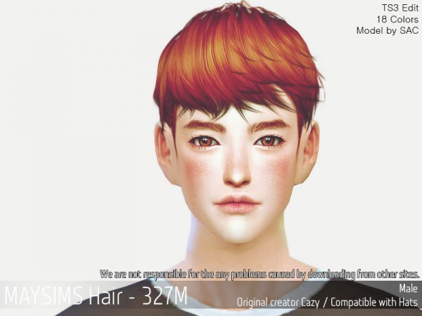 MAY Sims: MAY 3127M hair retextured for Sims 4