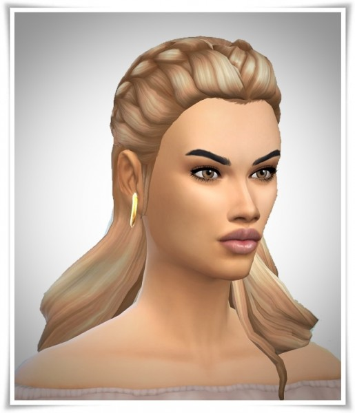 Birksches sims blog: LongHair Braided Fore Head for Sims 4