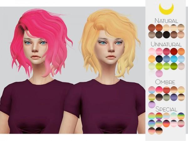 The Sims Resource: LeahLillith`s Titanium hair retextured by Kalewa a for Sims 4