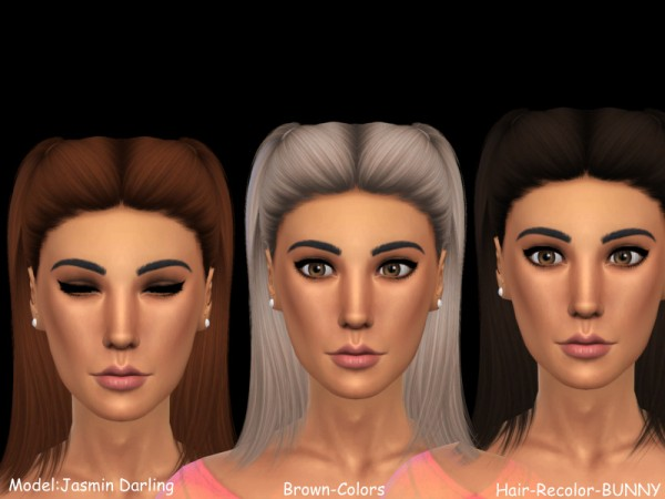 The Sims Resource: Bunny hair recolred by Naddiswelt for Sims 4