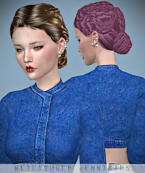 Jenni Sims: Newsea`s PasoDoble hair retextured for Sims 4