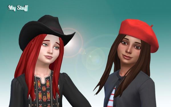 Mystufforigin: Liliana Hair retextured for girls for Sims 4