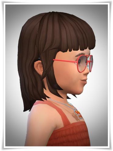 Birksches sims blog: Little Baby Bangs hair for Sims 4