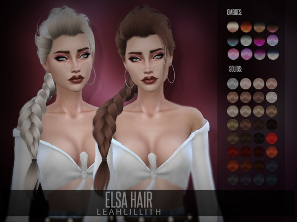 The Sims Resource: Elsa Hair by LeahLillith for Sims 4