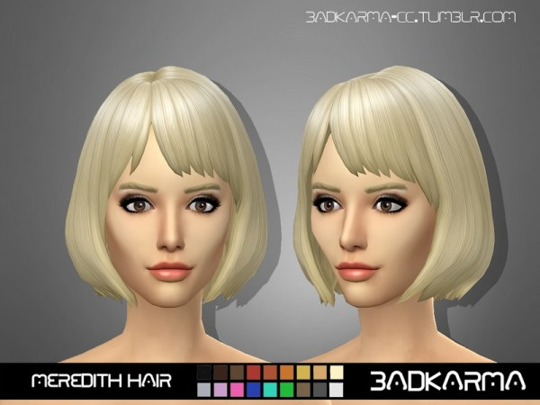 The Sims Resource: Meredith Hair retextured by for Sims 4