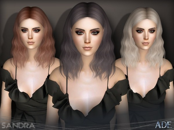 The Sims Resource: Sandra hair by Ade Darma for Sims 4