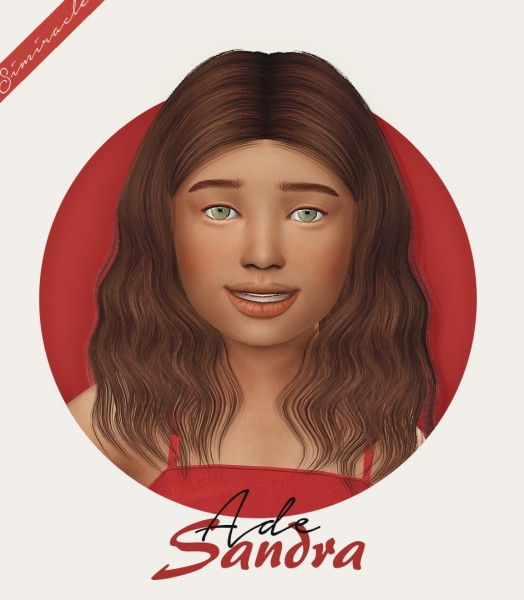 Simiracle: AdeDarma`s Sandra Hair retextured  kids version for Sims 4