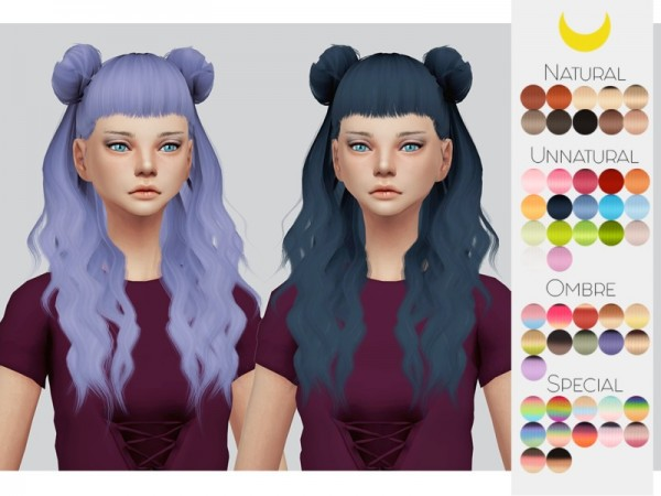 The Sims Resource: Leahlillith`s Melanie hair retextured by Kalewa a for Sims 4