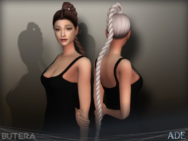 The Sims Resource: Butera hair by Ade Darma for Sims 4