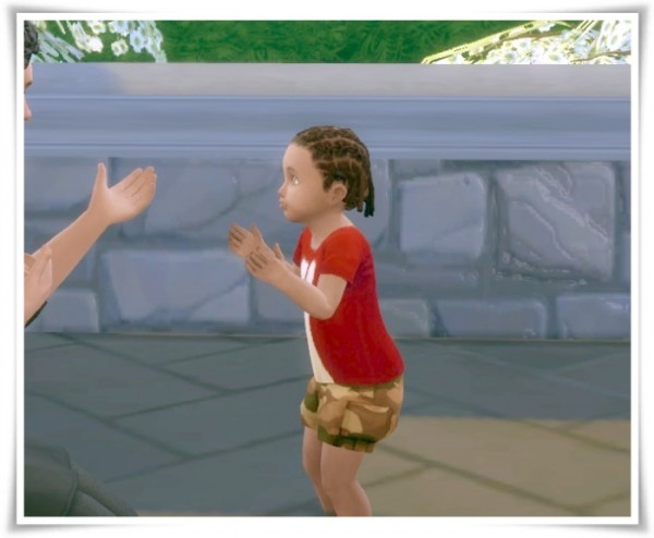 Birksches sims blog: Cool Braids hair for toddler for Sims 4