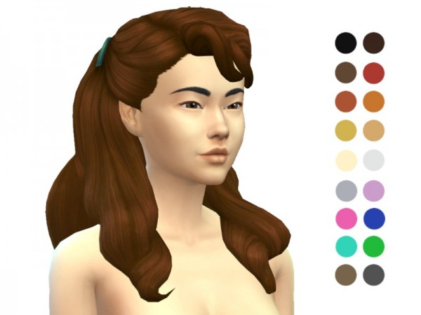 The Sims Resource: Thick Wavy Hair retextured by ladyfancyfeast for Sims 4