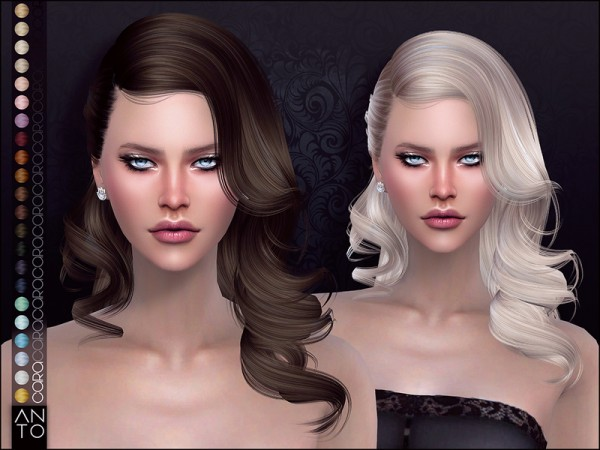 The Sims Resource: Cara Hair by Anto for Sims 4