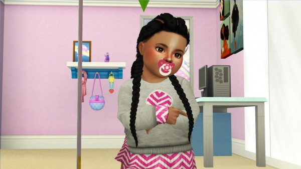 Coupure Electrique: Simpliciaty`s Kyra hair retextured   kids and toddlers versions for Sims 4
