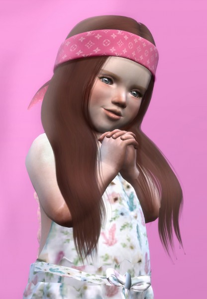 Coupure Electrique: LeahLillith`s Karin hair retextured   Kids Version for Sims 4