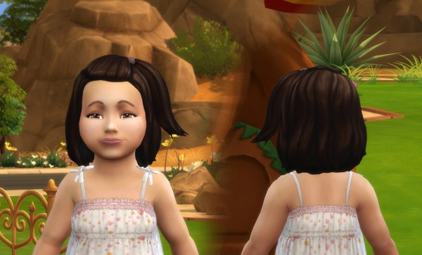 Mystufforigin: Melanie Hair retextured V2 for Toddlers for Sims 4