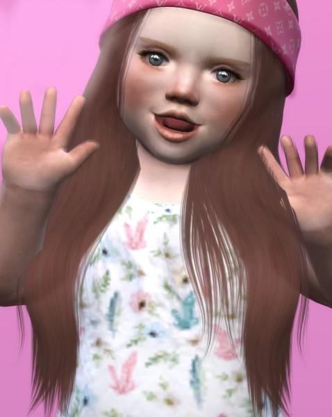 Coupure Electrique: LeahLillith`s Karin hair retextured   Kids Version for Sims 4