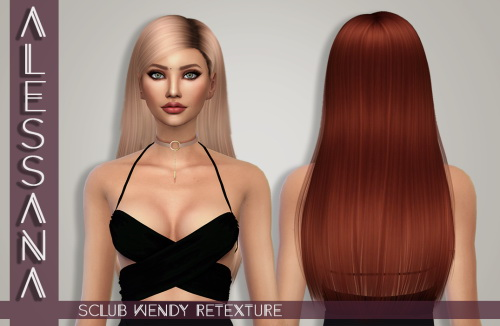 Alessana Sims: S club`s Wendy Hair Retextured for Sims 4