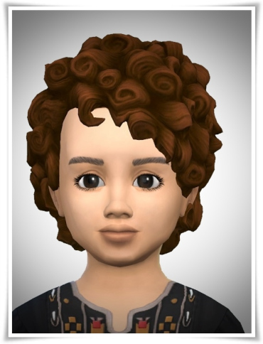 Birksches sims blog: Babys Curl Head for Sims 4