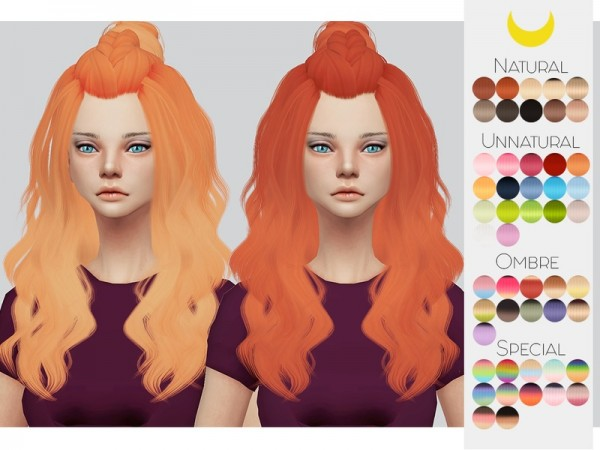 The Sims Resource: LeahLillith`s Siren Hair retextured by kalewa a for Sims 4