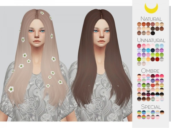 The Sims Resource: LeahLillith`s Sachi Hair Retextured by kalewa a for Sims 4