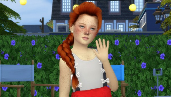 Coupure Electrique: LeahLillith`s Elsa hair retextured kids and toddlers version for Sims 4