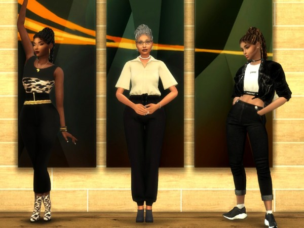 The Sims Resource: Braided Bun Pony hair retextured by drteekaycee for Sims 4