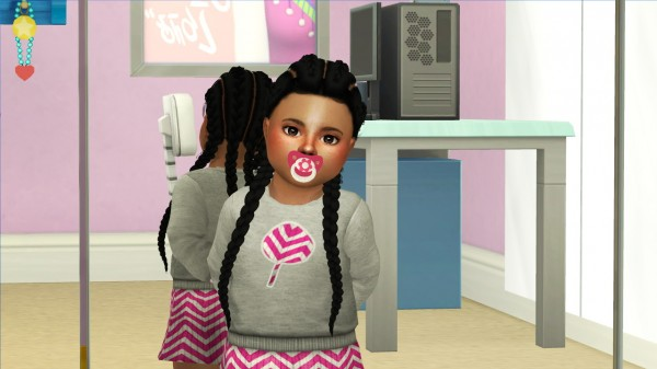 The Sims Resource: Simpliciaty`s Kyra hair retextured   kids and toddlers versions for Sims 4