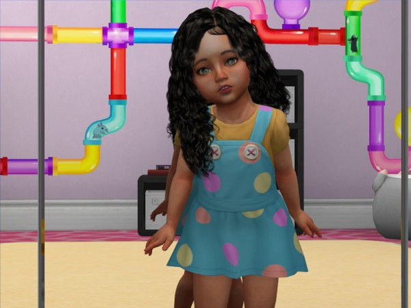Coupure Electrique: Tsminh`s Angel hair retextured   kids and toddlers versions for Sims 4