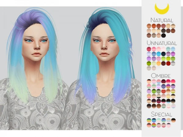 The Sims Resource: LeahLillith`s Pretty Thoughts hair retextured by kalewa a for Sims 4