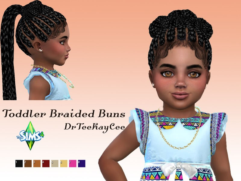 Sims 4 Hairs The Sims Resource Toddler Braided Buns By