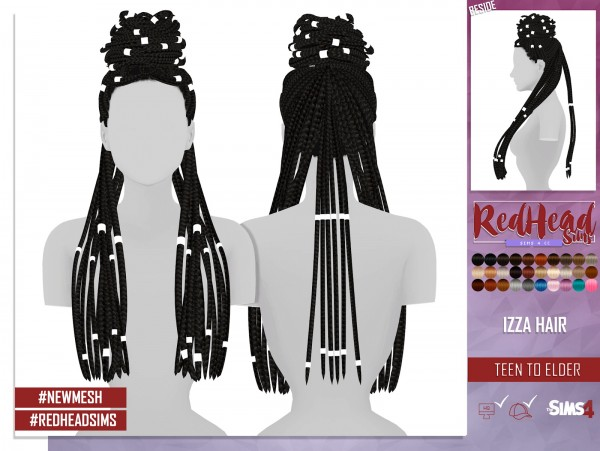 Coupure Electrique: Izza hair for Sims 4