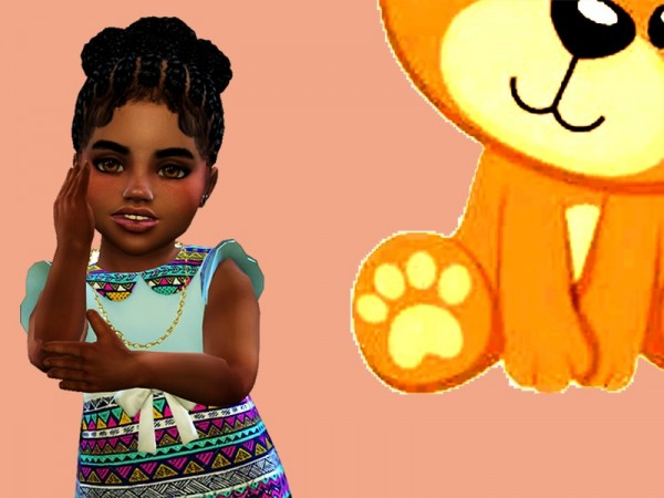 The Sims Resource: Toddler Braided Buns by drteekaycee for Sims 4