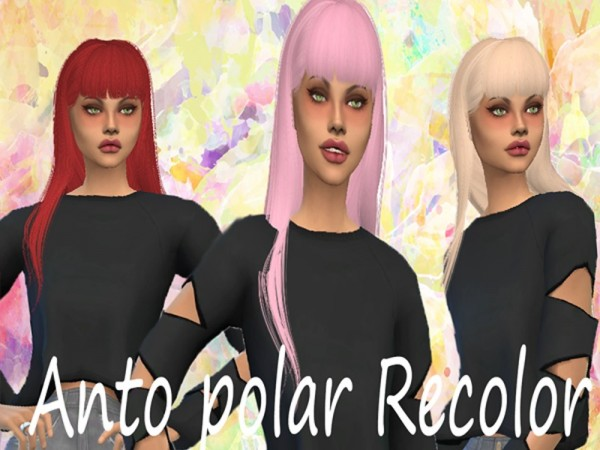 The Sims Resource: Polar hair recolored by crazydirpgirl for Sims 4