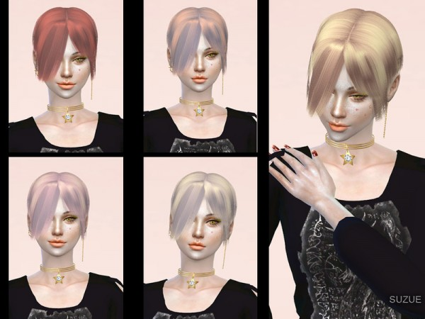 The Sims Resource: Cappuccino Hair by Suzue for Sims 4