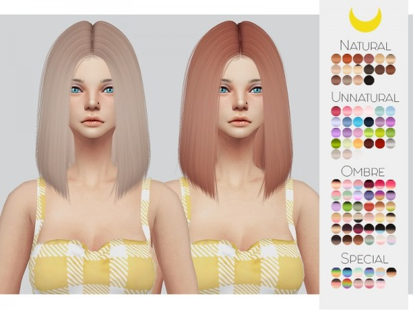 The Sims Resource: LeahLillith`s Polly hair retetured by kalewa a for Sims 4