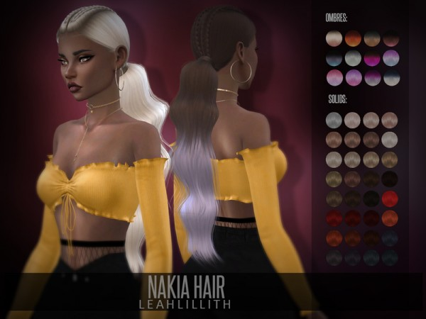 The Sims Resource: Nakia Hair by LeahLillith for Sims 4